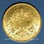 Münzen Autriche. François Joseph (1848-1916). 20 couronnes 1915. Refrappe. 900 /1000. 6,77 gr