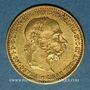 Münzen Autriche. François Joseph I (1848-1916). 10 couronnes 1896. (PTL 900‰. 3,39 g)