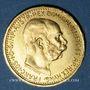 Münzen Autriche. François Joseph I (1848-1916). 10 couronnes 1912. Refrappe. 900 /1000. 3,39 gr