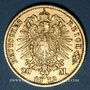 Münzen Bade. Frédéric I, grand duc (1856-1907). 20 mark 1872G. 900 /1000. 7,96 gr