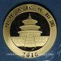 Münzen Chine. République. 200 yuan 2016. Panda. 999 /1000. 15 gr