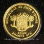 Münzen Côte d'Ivoire. République. 1500 francs CFA 2010. (PTL 999 ‰. 0,5 g)