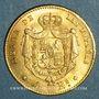 Münzen Espagne. Isabelle II (1833-1868). 4 escudos 1865 Madrid (PTL 900/‰. 3,35 g)