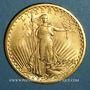 Münzen Etats Unis. 20 dollars 1908. Statue de la Liberté. (PTL 900 ‰. 33,43 g)