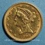 Münzen Etats Unis. 5 dollars 1898. 900 /1000. 8,36 gr