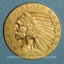 Münzen Etats Unis. 5 dollars 1915. Tête d'indien. (PTL 900‰. 8,36 g)