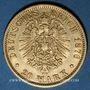 Münzen Hambourg. 20 mark 1876J. 900/1000. 7,96 gr
