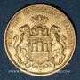 Münzen Hambourg. 20 mark 1876J. 900/1000. 7,96 gr.