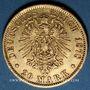 Münzen Hambourg. 20 mark 1878J. 900 /1000. 7,96 gr
