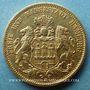 Münzen Hambourg. 20 mark 1883J. 900/1000. 7,96 gr