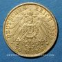 Münzen Hambourg. 20 mark 1893J. 900/1000. 7,96 gr