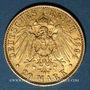 Münzen Hambourg. 20 mark 1894J. 900 /1000. 7,96 gr