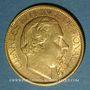 Münzen Monaco. Charles III (1856-1889). 100 francs 1884A. (PTL 900‰. 32,258 g)