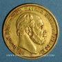 Münzen Prusse. Guillaume I (1861-1888). 20 mark 1872 B. (PTL 900‰. 7,96 g)