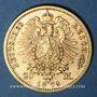 Münzen Prusse. Guillaume I (1861-1888). 20 mark 1873C. 900 /1000. 7,96 gr