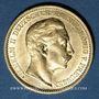 Münzen Prusse. Guillaume II (1888-1918). 20 mark 1908A. 900 /1000. 7,96 gr