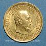 Münzen Russie. Alexandre III (1881-1894). 5 roubles 1889. 900 /1000. 6,45 gr