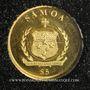Münzen Samoa. Monarchie parlementaire. 5 dollars 2014. (PTL 999,9‰. 0,5 g)