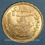 Münzen Tunisie. Mohammed El Hadi, bey (1320-1324H = 1902-1906). 20 francs 1322H /1904A. (PTL 900‰. 6,45 g)