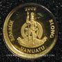 Münzen Vanuatu. République. 20 vatu  2009 (PTL 999‰. 0,5 g)