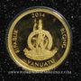 Münzen Vanuatu. République. 20 vatu  2014 (PTL 999‰. 0,5 g)