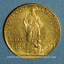 Münzen Vatican. Pie XI (1922-1939). 100 lires 1933-1934 (PTL 900‰. 8,80 g)