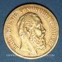 Münzen Wurtemberg. Charles I (1864-1891). 10 mark 1875 F. (PTL 900‰. 3,98 g)