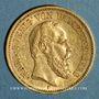 Münzen Wurtemberg. Charles I (1864-1891). 20 mark 1876F. (PTL 900‰. 7,96 g)