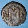 Münzen Empire byzantin. Anastase (491-518). Follis. Constantinople, 5e officine, 498-518