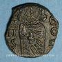 Münzen Empire byzantin. Constantin V (741-775) et son fils Léon IV. Follis. Syracuse, 751-775