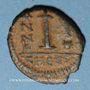 Münzen Empire byzantin. Justin II (565-578). Décanoummion. Théoupolis (Antioche), 565-566