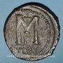 Münzen Empire byzantin. Justinien I (527-565). Follis. Théoupolis (Antioche), 3e officine, 529-533