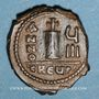 Münzen Empire byzantin. Maurice Tibère (582-602). Décanoummion. Théoupolis (Antioche), 589-590
