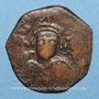 Münzen Empire byzantin. Maurice Tibère (582-602). Follis. Nicomédie, 2e officine, 591-592