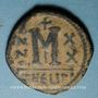Münzen Empire byzantin. Maurice Tibère (582-602). Follis. Théopoulis (Antioche), 3e officine, 601-602