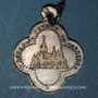 Münzen Alsace. Altkirch. Eglise St Morand. Médaille argent (poinçon au crabe). Quadrilobée. 16,20x19,98 mm