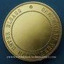 Münzen Alsace. Bas-Rhin. Association de jardinage. Médaille bronze doré. 50,7 mm. Gravée par Pingret
