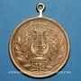 Münzen Alsace. Brunstatt. 50e anniversaire de la chorale Caecilia. 1907. Médaille bronze doré. Avec œillet