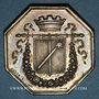 Münzen Alsace. Colmar. Conseil Municipal de 1821. Jeton octogonal en argent. Gravé par Oblin F