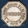 Münzen Alsace. Franc-maçonnerie – Loge Alsace – Lorraine de Paris. 1872-1920. Médaille en maillechort