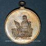 Münzen Alsace. Lautenbach. Association Ste Cécile - Bénédiction du drapeau. 1897. Médaille laiton argenté