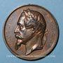 Münzen Alsace. Lignes de Chemin de fer de Strasbourg à Barr et Wasselonne, de Haguenau... 1859-1864. Bronze