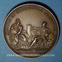 Münzen Alsace-Lorraine. Prise de Belfort 1654. Médaille en bronze jaune. Refrappe