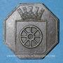 Münzen Alsace. Molsheim. 1ère Foire. 1852. Jeton laiton octogonal. 28,7 mm.