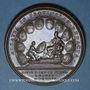 Münzen Alsace. Soumission des dix Villes Impériales de l'Alsace. 1680. Médaille cuivre