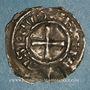Münzen Alsace. Strasbourg - Evêché. Charles le Simple (898-923) et Godefried. Denier