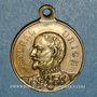 Münzen Alsace. Strasbourg. Guerre de 1870 - Le général Uhrich. Médaille laiton avec  avec son œillet