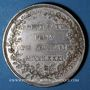 Münzen Alsace. Strasbourg. Jubilé du rattachement de Strasbourg à la France. 1781. Médaille argent. 42 mm