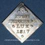 Münzen Alsace. Strasbourg. Municipalité. 1/14 de taler-klippe 1817. Tricentenaire du protestantisme