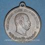 Münzen Alsace. Strasbourg. Visite de Guillaume I – Manœuvres. 1886. Médaille laiton. 40,50 mm